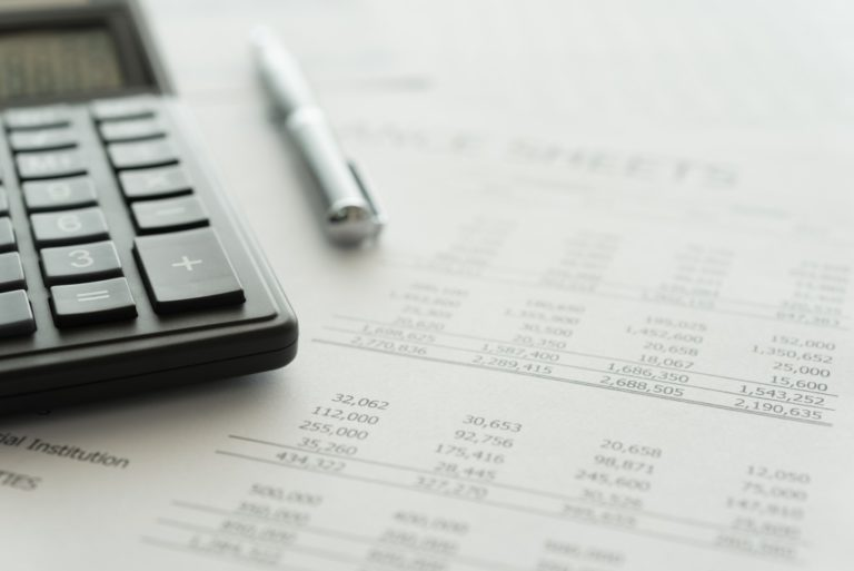 budget sheet and calculator