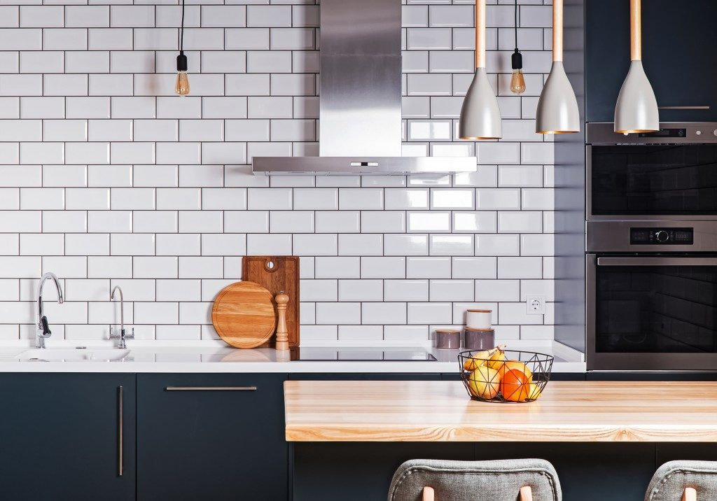 Modern interior spacious kitchen