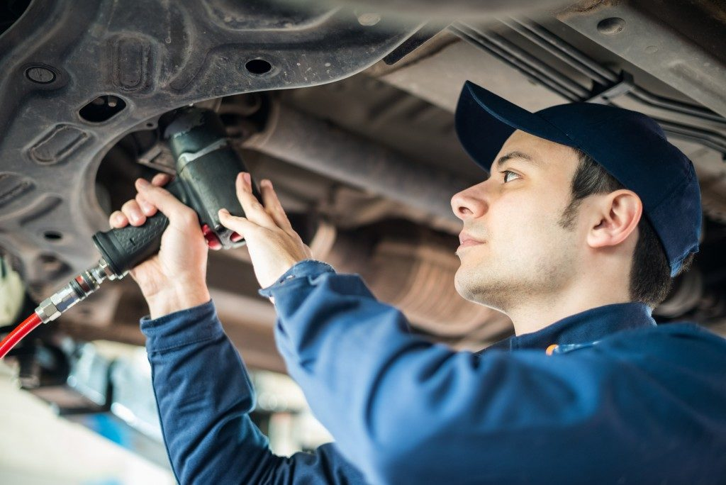 Automotive repair man working