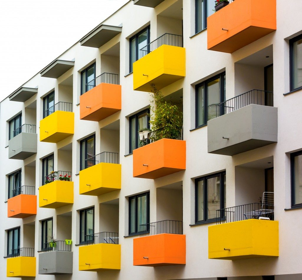 colorful balcony apartments