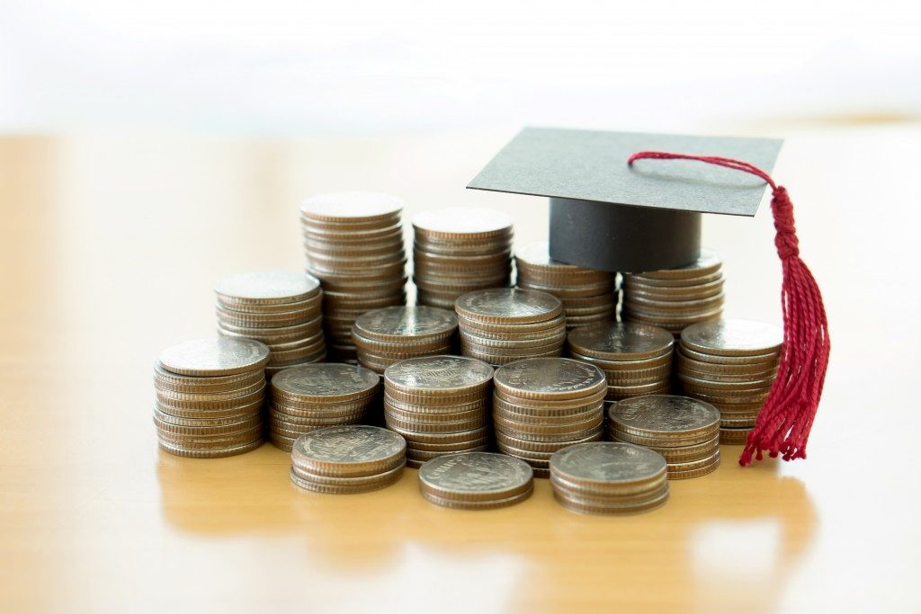 Coins with graduation cap