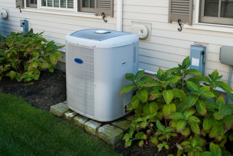 Air compressor outside the house