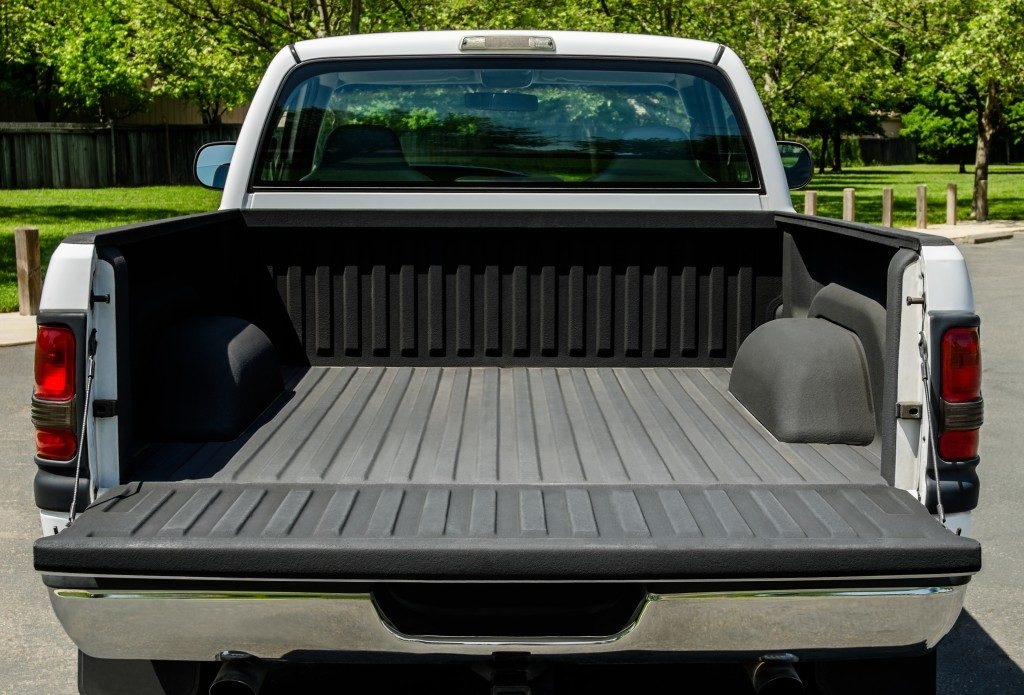 the back of a pickup truck