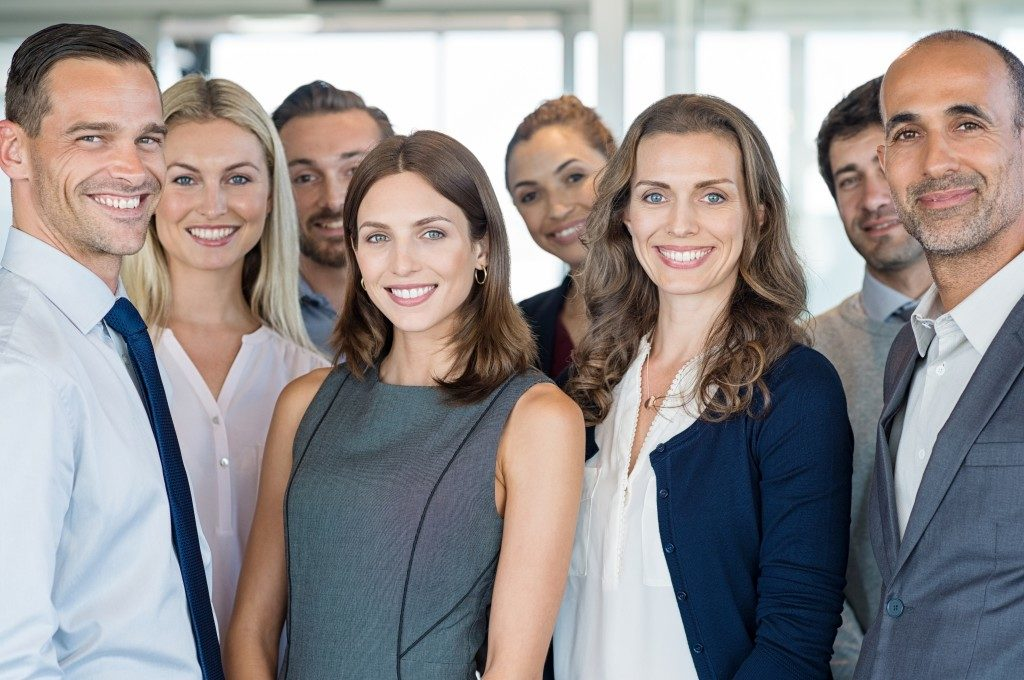 Success group of business people