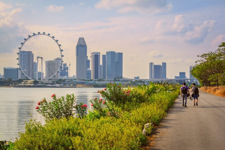 singapore in a sunny day