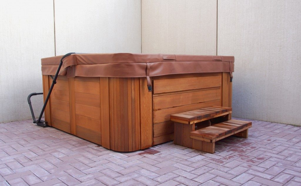 Home outdoor hot tub