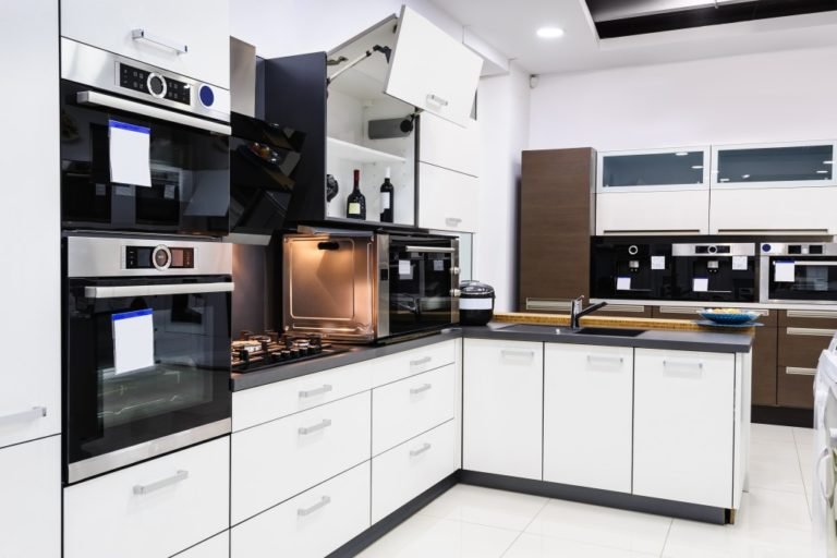 kitchen with home appliances