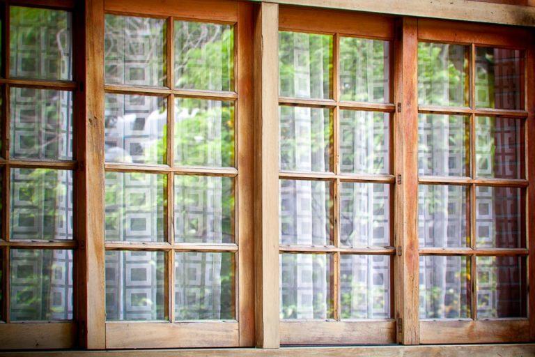 traditional wooden sliding door