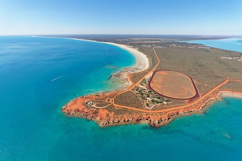 Aerial view of Gantheaume Point and Cable Beach near Broome