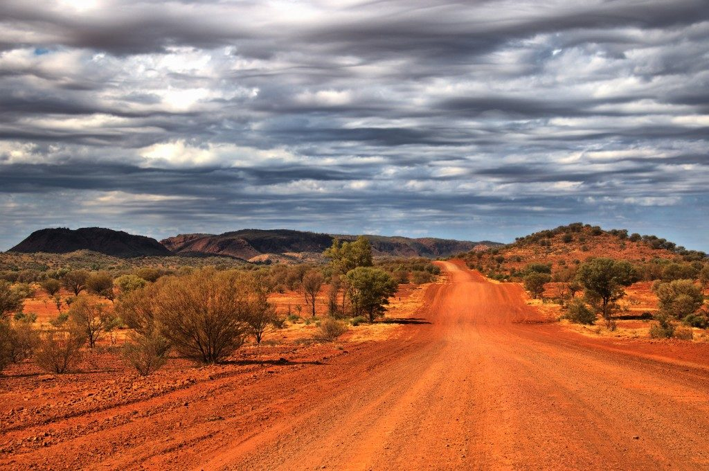 Outback scenery in the Red Centre of Australia