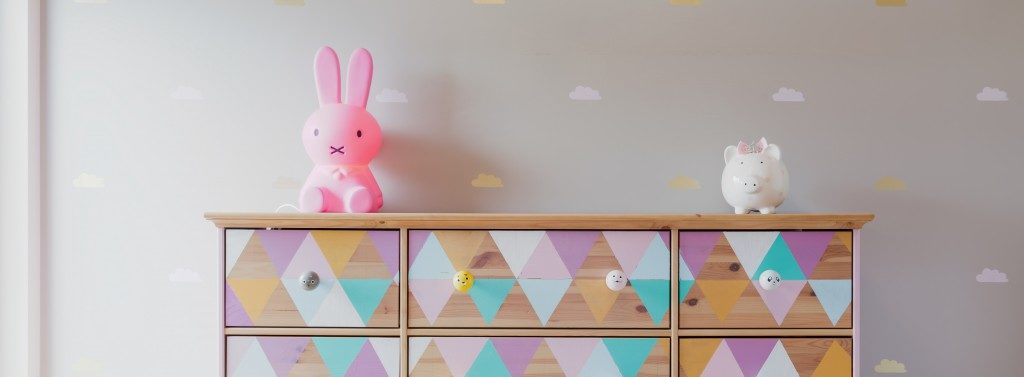 kids bedroom colorful drawer