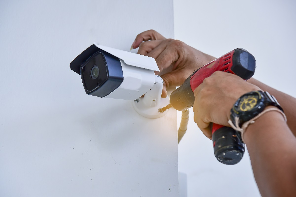 CCTV being installed at home