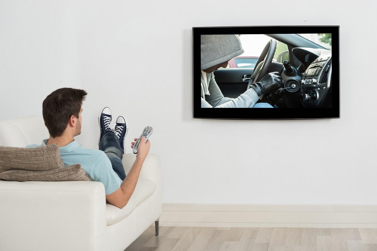 guy watching movies