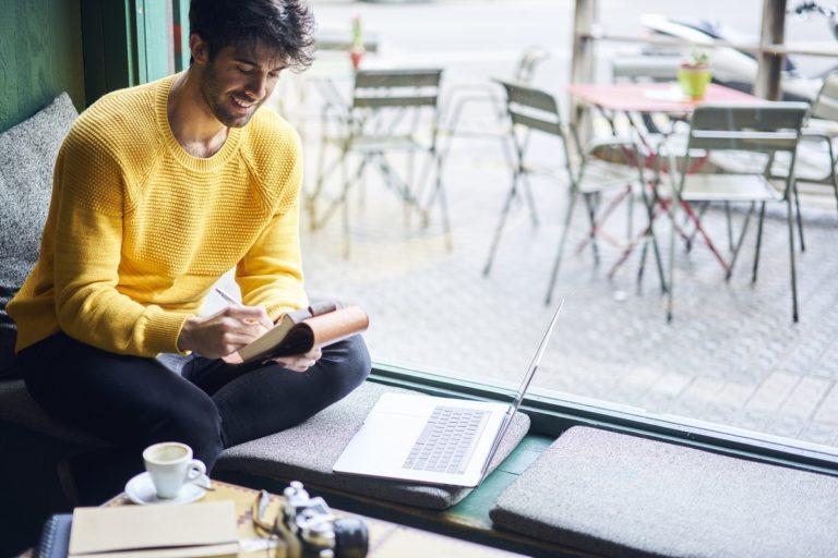 guy writing