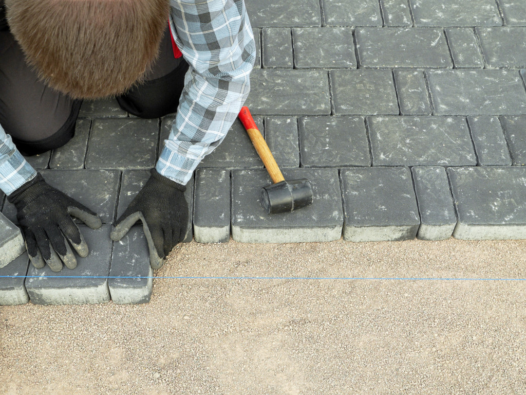 paving the driveway