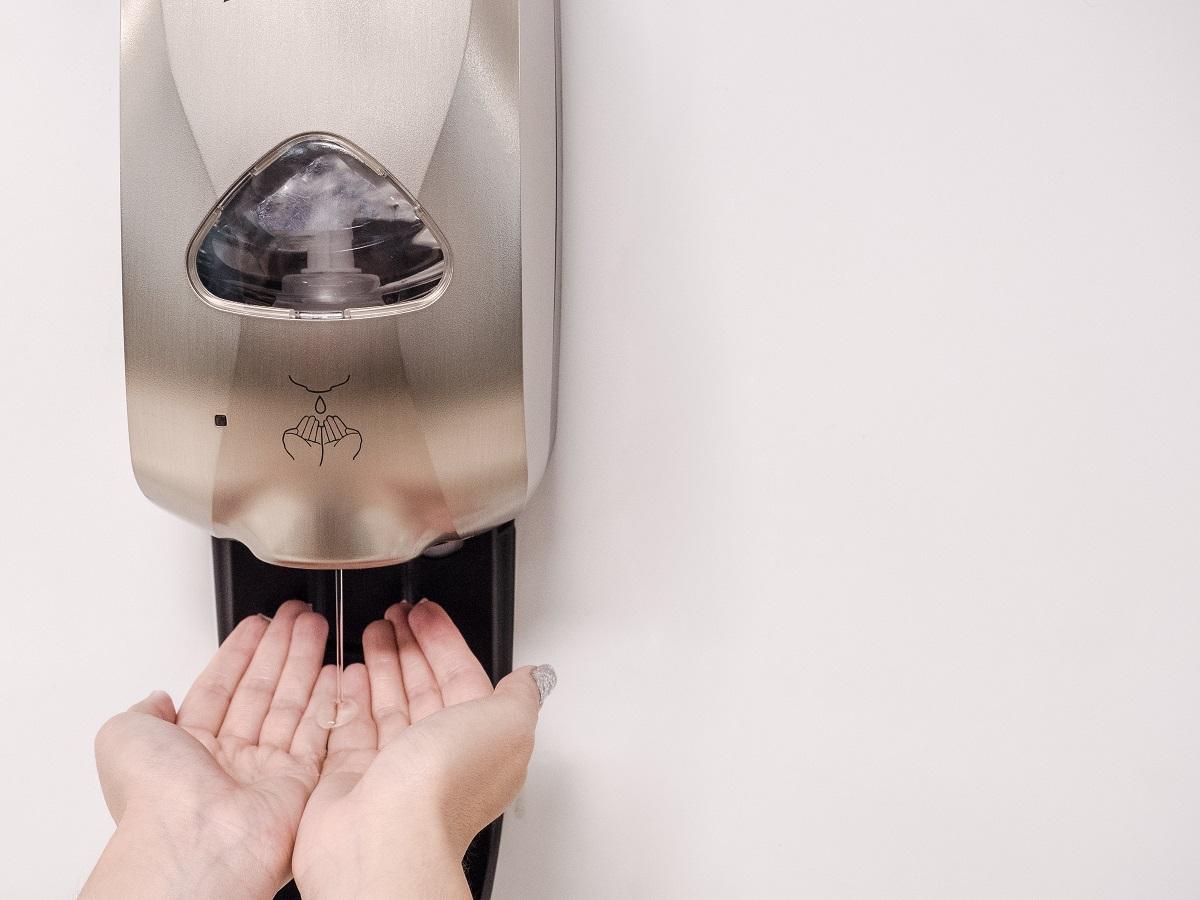 hand sanitizing