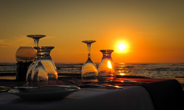 dining by the beach