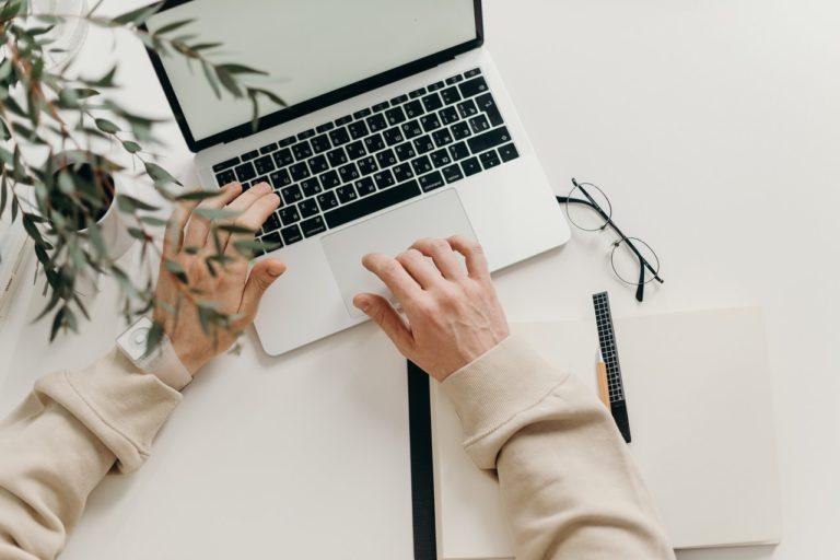 macbook of entrepreneur