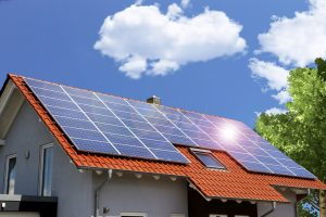 house with solar panels installed